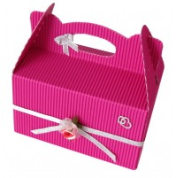 Poročna škatla za pecivo - pink