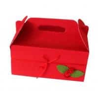 Škatla za pecivo - rdeča