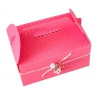 Škatla za pecivo - roza