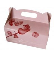 Škatla za pecivo - roza vrtnica 03