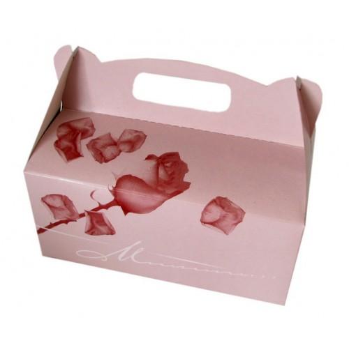 Škatla za pecivo - roza vrtnica 02