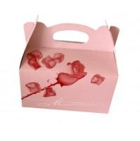 Škatla za pecivo - roza vrtnica 01