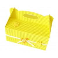 Poročna škatla za pecivo - rumena