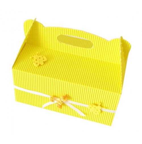 Škatla za pecivo - rumena