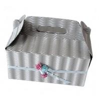 Poročna škatla za pecivo - srebrna