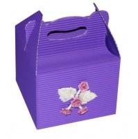 Poročna škatla za pecivo - violet 1