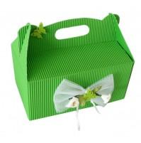 Škatla za pecivo - zelena