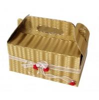 Škatla za pecivo - zlata