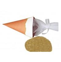Poročna piramida za riž - oranžna