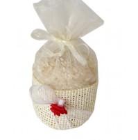 Poročni mošnjiček za riž - bež