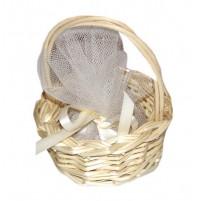 Poročni konfet - košarica/bež