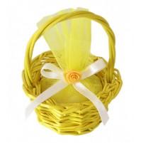Poročni konfet - košarica/rumen
