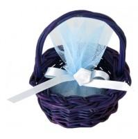 Poročni konfet - košarica/moder