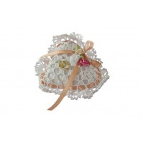 Poročna blazinica - kvačkano - malo srce