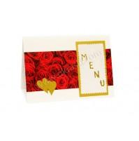 Poročna menu karta - vrtnica