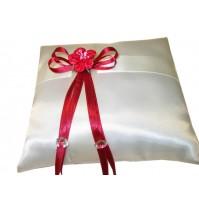 Poročna blazinica - rdeča/kvadrat 1