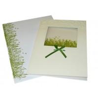Vabilo - travica/metuljčki - zeleno