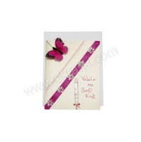 Vabilo za krst - roza/krstna sveča