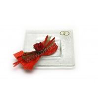Poročni konfet - steklo - čokolada 01