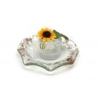 Poročni konfet - steklo - sončnica