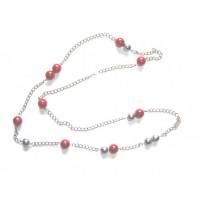 Verižica - (kombinacija perl in kovine)