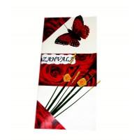Poročna zahvala - rdeča vrtnica 1